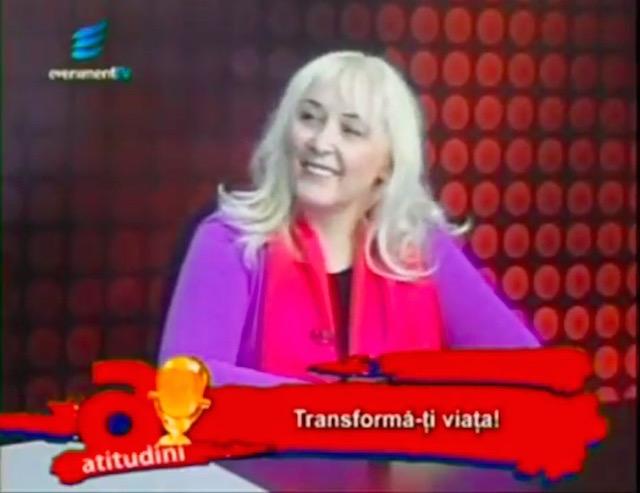 "Transforma modul in care traiesti viata cu Cristina Hlusak la TV Sibiu Emisiunea ""Atitudini"" (Video)"