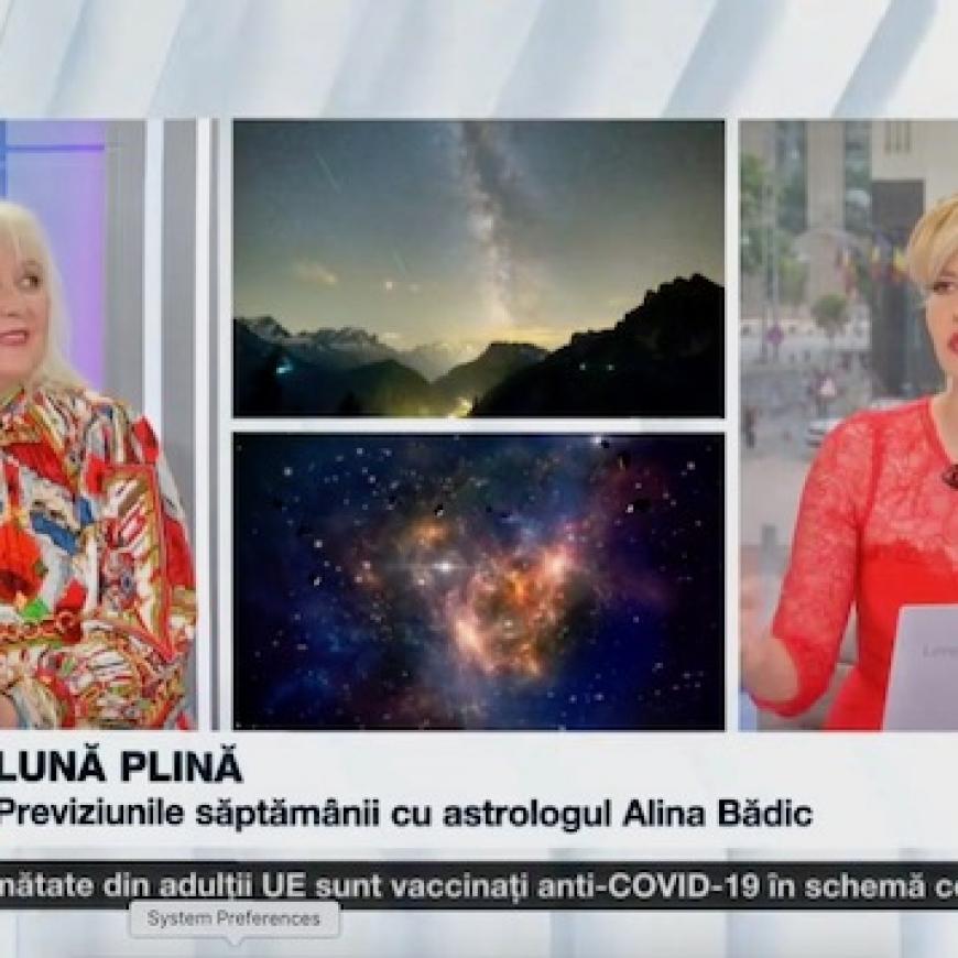 Horoscop 26 iulie-1 august 2021, cu Alina Bădic și Cristina Hlusak (Video)